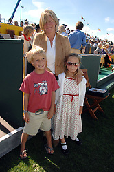 The COUNTESS OF MARCH with her twin children LADY ELOISE GORDON-LENNOX and LORD FREDDIE GORDON-LENNOX at the final of the Veuve Clicquot Gold Cup 2007 at Cowdray Park, West Sussex on 22nd July 2007.<br />