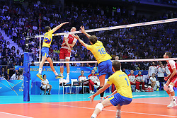 September 30, 2018 - Turin, Piedmont, Italy - Bartosz Kurek of Poland in action during the final match between Brazil and Poland for the FIVB Men's World Championship 2018 at Pala Alpitour in Turin, Italy, on 30 September 2018. Poland won 3: 0 and it is confirmed world champion. (Credit Image: © Massimiliano Ferraro/NurPhoto/ZUMA Press)