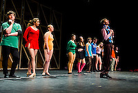 """""""Bobby"""" Chris Weimann at the auditions during dress rehearsal for the """"Chorus Line"""" at Gilford High School on Wedneday evening.  (Karen Bobotas/for the Laconia Daily Sun)"""