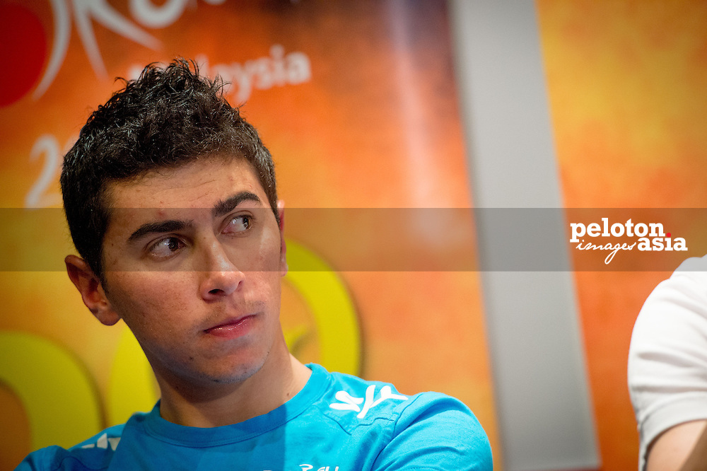 Le Tour de Langkawi 2015/ Pre Race/ Sebastian Henao Gomez / Team SKY / Press conferance/