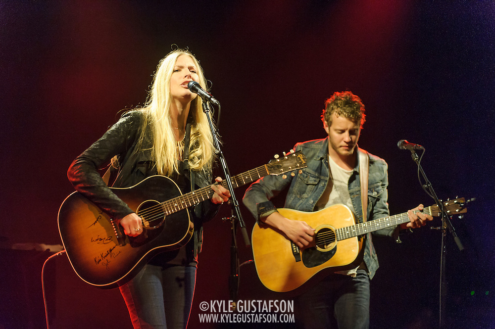 WASHINGTON, DC - May 29th, 2014 - Holly Williams and Michael Anderson perform at The Hamilton in Washington, D.C. Williams,  the granddaughter of Hank Williams, Sr. and the daughter of Hank Williams, Jr., self-released her latest album and it reached No. 1 on the Billboard Heatseekers chart. (Photo by Kyle Gustafson / For The Washington Post)