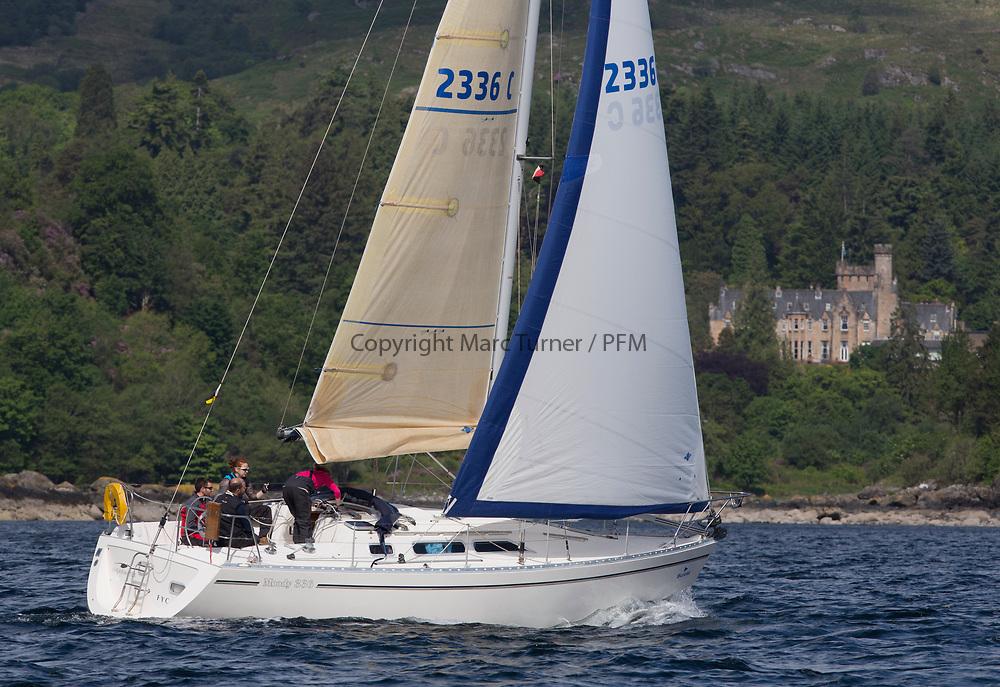Silvers Marine Scottish Series 2017<br /> Tarbert Loch Fyne - Sailing<br /> <br /> 2336C, Shearwater, Garth and Erica Wilson, Fairlie Yacht Club, Moody 336<br /> <br /> Credit: Marc Turner / CCC
