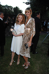 Left to right, GERI HALLIWELL and MALIN JOHNANSSON at the annual Serpentine Gallery Summer Party in association with Swarovski held at the gallery, Kensington Gardens, London on 11th July 2007.<br /><br />NON EXCLUSIVE - WORLD RIGHTS