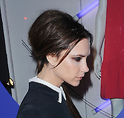 17.FEBRUARY.2012. LONDON<br /> <br /> VICTORIA BECKHAM FASHION SHOW AT HARVEY NICHOLS IN LONDON. A SOLEMN LOOKING VICTORIA LOOKED EXTREMELY SKINNY HENCE THE BONE PROMINENT ON HER NECK.<br /> <br /> BYLINE: EDBIMAGEARCHIVE.COM<br /> <br /> *THIS IMAGE IS STRICTLY FOR UK NEWSPAPERS AND MAGAZINES ONLY*<br /> *FOR WORLD WIDE SALES AND WEB USE PLEASE CONTACT EDBIMAGEARCHIVE - 0208 954 5968*