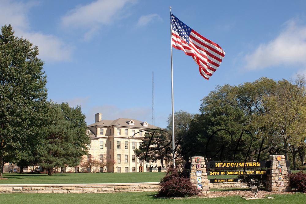 Headquarters building at Fort Riley, Kansas.