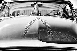 Watched by members of the local classic and American muscle car community Jerome Adams, 69, rolls up in a heirloom head-turner from 1951 that he restored, during a community car show in North Philadelphia, on Sunday September 15, 2019.