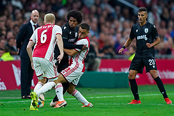 13-08-2019 NED: UEFA Champions League AFC Ajax - Paok Saloniki, Amsterdam<br />  Ajax won 3-2 and they will meet APOEL in the battle for a group stage spot / Sergino Dest #28 of Ajax, Diego Biseswar #21 of PAOK