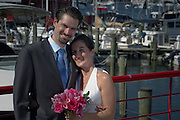 Annapolis, Maryland (Sept. 7, 2010) -- Genevieve and Christian get married pier side of the Annapolis Maritime Museum and then do a tour of the area afterwards.