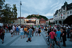 during reception of Slovenian Olympic Team at Kongresni Trg when they came back from London after Summer Olympic games 2012, on August 14, 2012 in Center of Ljubljana, Slovenia (Photo by Matic Klansek Velej / Sportida.com)