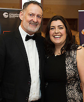 repro free: Pat Winters Winters Property and Sarah Winters TWM at the SCSI, Society of Chartered Surveyors of Ireland West branch Annual Dinner 2017 at the Ardilaun Hotel, Galway. Photo:Andrew Downes.