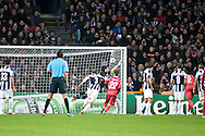 23.10.12. Copenhagen, Denmark. UEFA Champions League Group E, FC Nordsjaelland  1 vs Juventus 1 at the Parken Stadium. Mikkel Beckmann of FC Nordsjaelland scores a goal from a free-kick during the UEFA Champions League group stage match against Juventud. Photo: © Ricardo Ramirez.