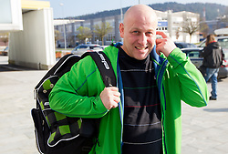 Goran Janus prior to the press conference of Slovenian Ski jumping and Nordic combined team before new winter season 2012/13 on November 17, 2012 in Gorenje shop, Crnuce, Ljubljana, Slovenia. (Photo By Vid Ponikvar / Sportida)