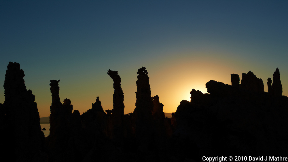 Mono Lake Tufa Tower Silhouettes at Dawn. Mono Lake Tufa State Natural Reserve, California. Image taken with a Nikon D3s and 50 mm f/1.4G lens (ISO 200, 50 mm, f/16, 1/500 sec).