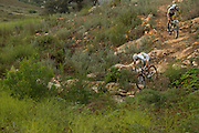 Nino Schurter (front) and Philip Buys of Team SCOTT-Odlo MTB racing break away from the lead group just before reaching Genadendal during stage 4 of the 2014 Absa Cape Epic Mountain Bike stage race from The Oaks Estate in Greyton, South Africa on the 27 March 2014<br /> <br /> Photo by Greg Beadle/Cape Epic/SPORTZPICSduring stage 4 of the 2014 Absa Cape Epic Mountain Bike stage race from The Oaks Estate in Greyton, South Africa on the 27 March 2014<br /> <br /> Photo by Greg Beadle/Cape Epic/SPORTZPICS