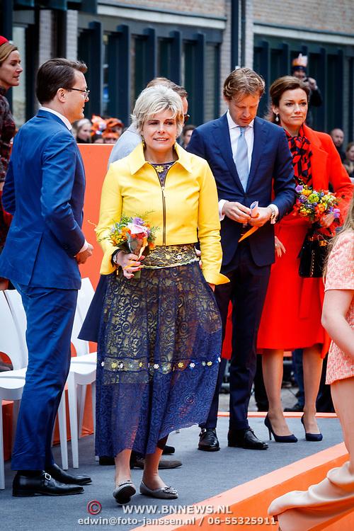 NLD/Groningen/20180427 - Koningsdag Groningen 2018, Laurentien, Floris en Aimee Sohngen