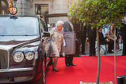 THE QUEEN, Celebration of the Arts. Royal Academy. Piccadilly. London. 23 May 2012.