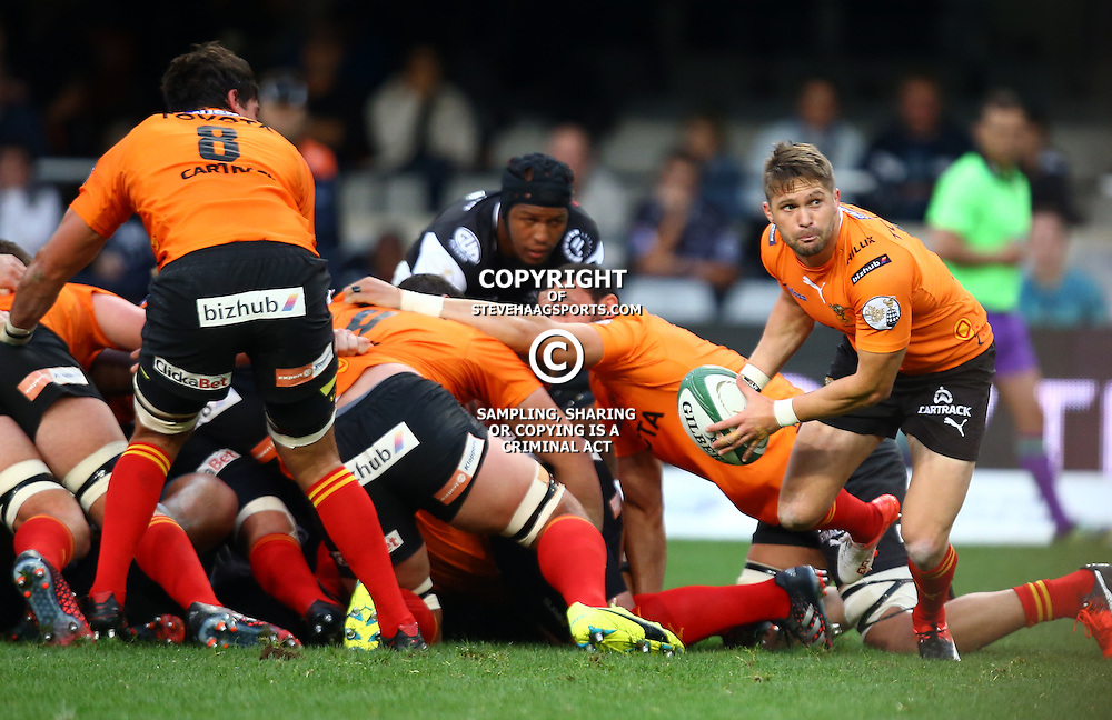 DURBAN, SOUTH AFRICA - SEPTEMBER 10: Tian Meyer (captain) of the Toyota Free State Cheetahs during the Currie Cup match between the Cell C Sharks and Toyota Cheetahs at Growthpoint Kings Park on September 10, 2016 in Durban, South Africa. (Photo by Steve Haag/Gallo Images)