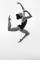 Black and white dance photography-Tumble III -featuring ballerina Zui Gomez
