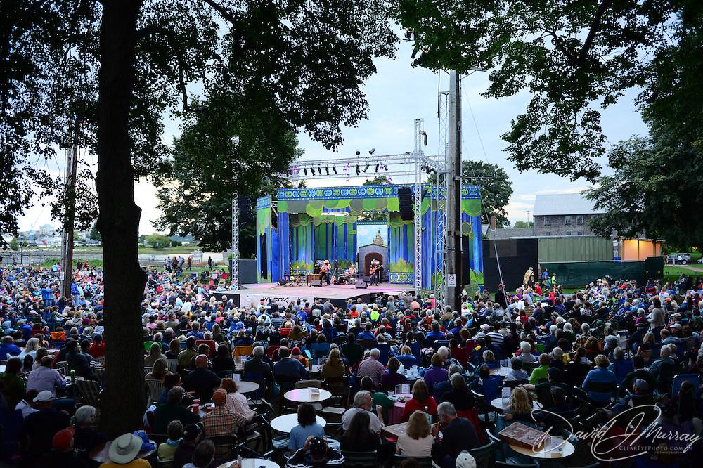 The Taj Mahal Trio performs at the Prescott Park Art Festival in Portsmouth, NH, August 22, 2014