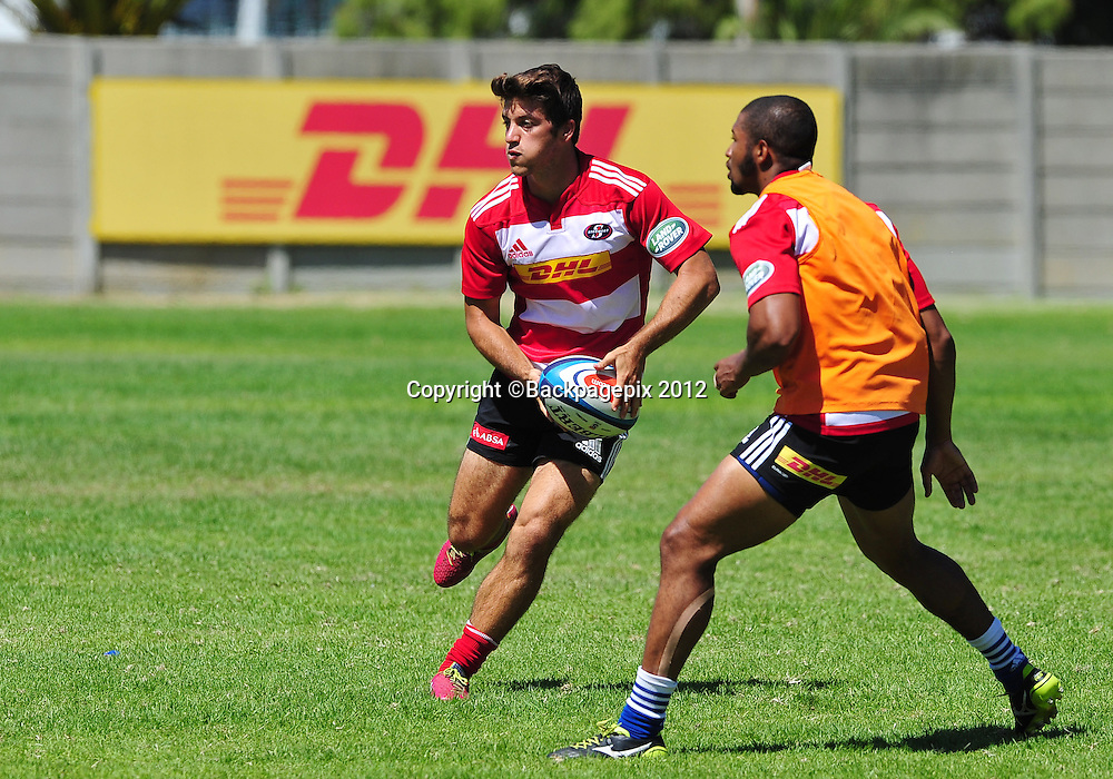 Demetri Catrakilis of the Stormers during the 2015 Super Rugby training session for the Stormers at Bellville HPC, Cape Town on 12 February 2015 ©Ryan Wilkisky/BackpagePix