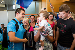 Darko Duric of Team Slovenia at arrival to Airport Joze Pucnik after the London 2012 Paralympic Games on September 10, 2012, in Brnik, Slovenia. (Photo by Vid Ponikvar / Sportida.com)