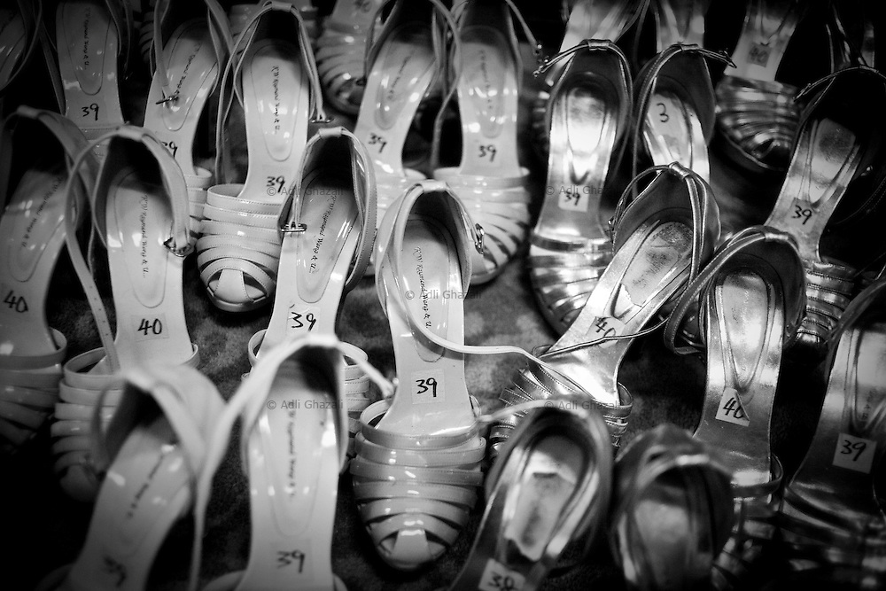 Few set of shoes for the Islamic Fashion Festival held at JW Marriot Hotel on November 10, 2010 Kuala Lumpur, Malaysia