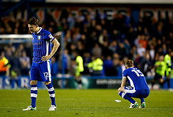 Sheffield Wednesday players look dejected after losing the penalty shoot out - Mandatory by-line: Matt McNulty/JMP - 17/05/2017 - FOOTBALL - Hillsborough - Sheffield, England - Sheffield Wednesday v Huddersfield Town - Sky Bet Championship Play-off Semi-Final 2nd Leg
