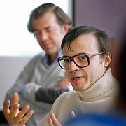 master class musique et film avec  Bertrand Burgalat et Stéphane Lerouge pour emergence cinema - SACEM, Paris, feb 2012.