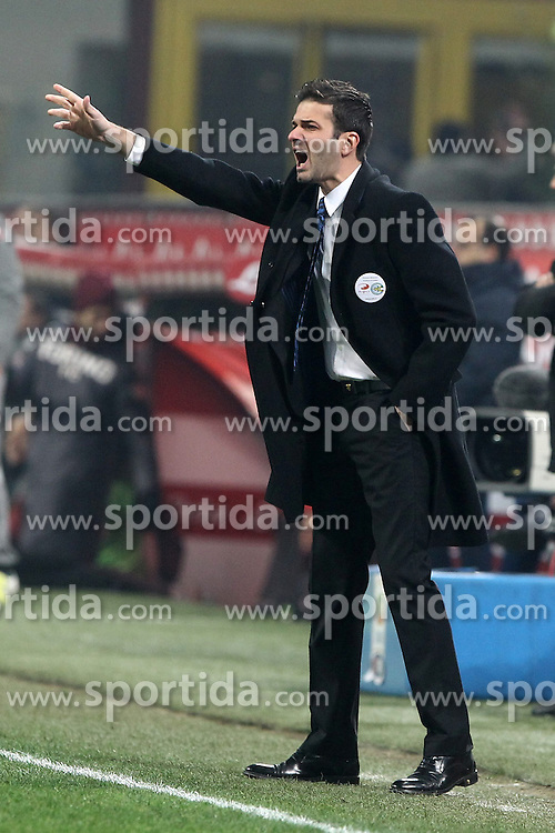 27.01.2013, Giuseppe-Meazza-Stadion, Mailand, ITA, Serie A, Inter Mailand vs FC Turin, 22. Runde, im Bild Andrea Stramaccioni Inter // during the Italian Serie A 22th round match between Inter Milan and Torino FC 1906 at the Giuseppe Meazza Stadium, Milan, Italy on 2013/01/27. EXPA Pictures © 2013, PhotoCredit: EXPA/ Insidefoto/ Paolo Nucci..***** ATTENTION - for AUT, SLO, CRO, SRB, BIH and SWE only *****