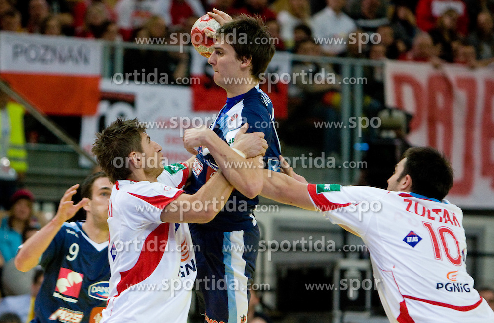 Sebastian Skube of Slovenia during the Men's Handball European Championship Group C match between Slovenia and Poland at the Olympia Hall on January 22, 2009 in Innsbruck, Austria. Slovenia vs. Poland had draw 30:30. (Photo by Vid Ponikvar / Sportida) - on January 2010