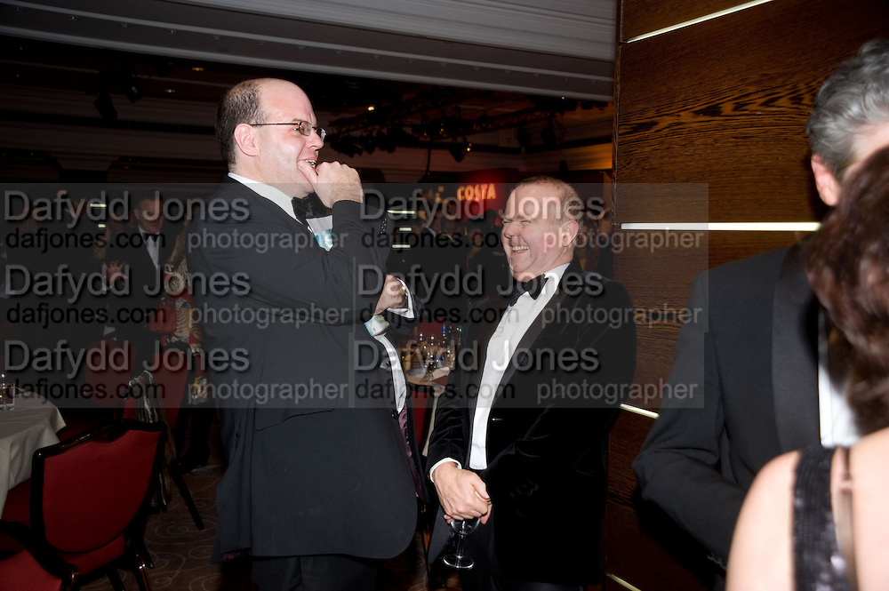 Mark Lawson; Ian Hislop, The Costa Book of the Year Award at the Costa Book Awards. The Intercontinental Hotel, Hamilton Place. London. 27 January 2009 *** Local Caption *** -DO NOT ARCHIVE -Copyright Photograph by Dafydd Jones. 248 Clapham Rd. London SW9 0PZ. Tel 0207 820 0771. www.dafjones.com<br /> Mark Lawson; Ian Hislop, The Costa Book of the Year Award at the Costa Book Awards. The Intercontinental Hotel, Hamilton Place. London. 27 January 2009