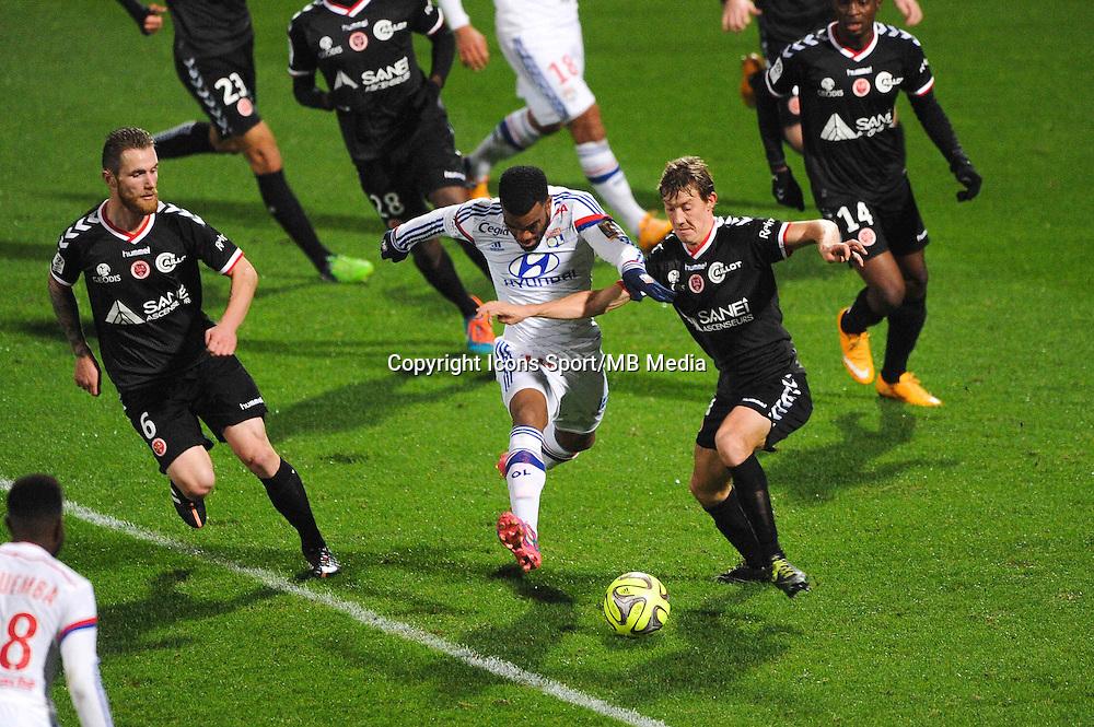 Alexandre LACAZETTE  - 04.12.2014 - Lyon / Reims - 16eme journee de Ligue 1  <br /> Photo : Jean Paul Thomas / Icon Sport