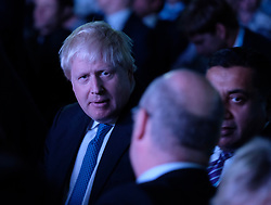 (c) Licensed to London News Pictures. <br /> 03/10/2017<br /> Manchester, UK<br /> <br /> Foreign Secretary Boris Johnson sits in the audience before he delivers his speech at the Conservative Party Conference held at the Manchester Central Convention Complex.<br /> <br /> Photo Credit: Ian Forsyth/LNP
