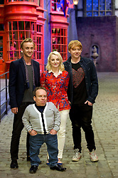 © Licensed to London News Pictures 29/03/2012 London, UK. .Tom Felton, Evanna Lynch Rupert Grint and Warwick Davies at The Warner Brothers Studio Tour, 'The Making of Harry Potter' Leavesden, Herts where all 8 Harry Potter movies were made. The behind the scenes walking tour opens to the public this week..Photo credit : Simon Jacobs/LNP