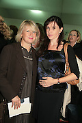 RONNI ANCONA AND BEATRICE BALLARD,  Opening of the Frieze Art Fair. Regents Park. London. 10 October 2007. -DO NOT ARCHIVE-© Copyright Photograph by Dafydd Jones. 248 Clapham Rd. London SW9 0PZ. Tel 0207 820 0771. www.dafjones.com.