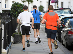 © Licensed to London News Pictures. 10/07/2018. London, UK. Newly appointed Foreign Secretary JEREMY HUNT is seen being followed by police security while jogging near his London home. Cabinet resignations by Former Foreign Secretary Boris Johnson and former Brexit secretary David Davis have put pressure on Prime Minister Theresa May over her handling of the Brexit negotiations, with suggestions of a leadership challenge. Photo credit: Ben Cawthra/LNP