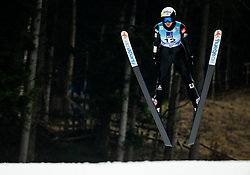 Oceane Gros Avocat of France soaring through the air during Trial Round at Day 1 of World Cup Ski Jumping Ladies Ljubno 2019, on February 8, 2019 in Ljubno ob Savinji, Slovenia. Photo by Matic Ritonja / Sportida