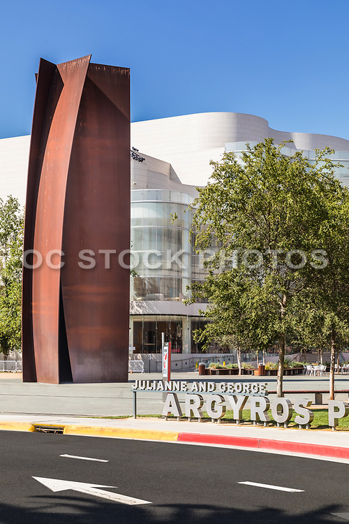 Metal Sculpture At Argyros Plaza Costa Mesa