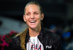September 28, 2018 - Karolina Pliskova of the Czech Republic during All Access Hour at the 2018 China Open WTA Premier Mandatory tennis tournament (Credit Image: © AFP7 via ZUMA Wire)