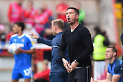 Notts County manager Harry Kewell in the technical area during the EFL Sky Bet League 2 match between Exeter City and Notts County at St James' Park, Exeter, England on 8 September 2018.