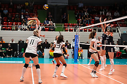 16.05.2019, Montreux, SUI, Montreux Volley Masters 2019, Deutschland vs Polen, im Bild Backline shot by Nele Barber (Germany #7) // during the Montreux Volley Masters match between Germany and Poland in Montreux, Switzerland on 2019/05/16. EXPA Pictures © 2019, PhotoCredit: EXPA/ Eibner-Pressefoto/ beautiful sports/Schiller<br /> <br /> *****ATTENTION - OUT of GER*****