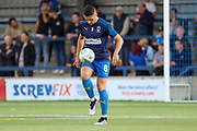 AFC Wimbledon midfielder Anthony Hartigan (8) warming up during the EFL Cup match between AFC Wimbledon and Milton Keynes Dons at the Cherry Red Records Stadium, Kingston, England on 13 August 2019.