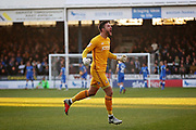 Bradford City goalkeeper Richard O'Donnell (1)  celebrates the first goal 1-0 Bradford during the EFL Sky Bet League 1 match between Peterborough United and Bradford City at The Abax Stadium, Peterborough, England on 17 November 2018.