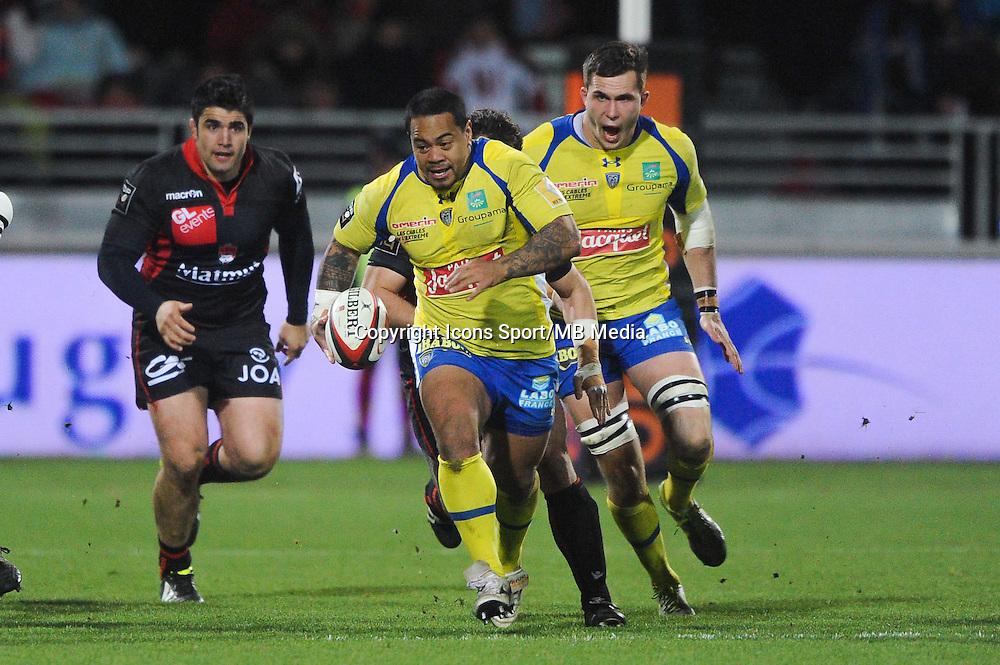 Tii Paulo - 28.12.2014 - Lyon Olympique / Clermont - 14eme journee de Top 14 <br />Photo : Jean Paul Thomas / Icon Sport