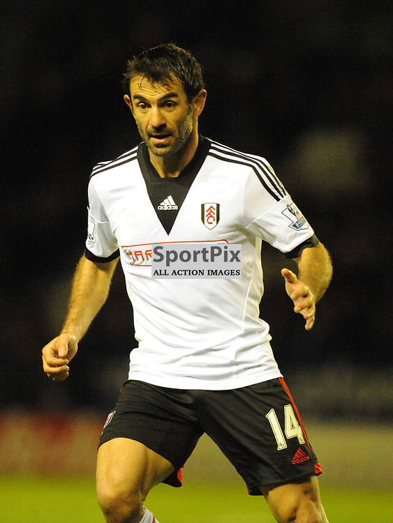 Giorgos Karagounis Fulham, Leicester City v Fulham, Capital One Cup, 29th October 2013