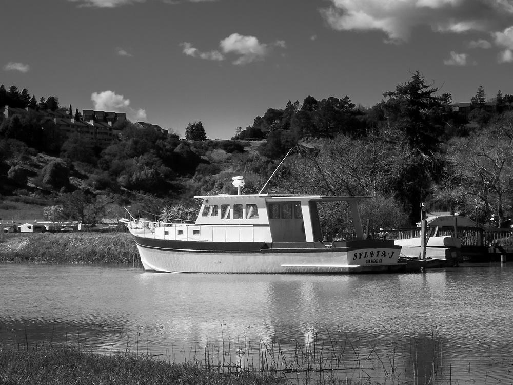 The Sylvia J on Gallinas Creek