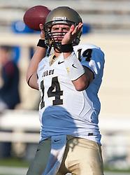 October 10, 2009; San Jose, CA, USA;  Idaho Vandals quarterback Brian Reader (14) before the game against the San Jose State Spartans at Spartan Stadium.  Idaho won 29-25.