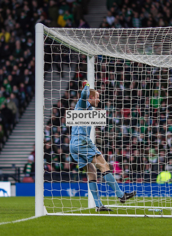 Craig Samson celebrates the St Mirren third goal vs Celtic