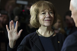 January 3, 2018 - Washington, District Of Columbia, USA - United States Senator TINA SMITH, Democrat of Minnesota, during a ceremonial swearing in at the United States Capitol in Washington, D.C. on January 3rd, 2018. (Credit Image: © Alex Edelman via ZUMA Wire)