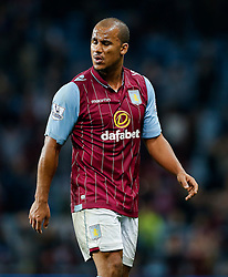 Gabriel Agbonlahor of Aston Villa looks dejected after the match ends in a 3-3 draw - Photo mandatory by-line: Rogan Thomson/JMP - 07966 386802 - 07/04/2015 - SPORT - FOOTBALL - Birmingham, England - Villa Park - Aston Villa v Queens Park Rangers - Barclays Premier League.